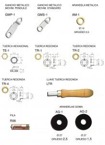 GMP1,GMP-1,GMP,GMS1,GMS-1,GMS,AM1,AM-1,AM,TE,TE1,TE-1,TR,TR1,TR-1,TR2,TR-2,AG,AG1,AG-1,AG2,AG-2,LTR,R06,R-06,gancho metalico,movimiento pendulo,gancho metalico,movimiento standard,arandela metalica,tuerca, hexagonal, redonda.