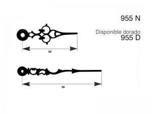 agujas metalicas clase B maquinaria de relojeria,955D,955 D,955-D,
