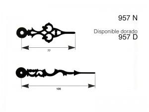 agujas metalicas clase B maquinaria de relojeria,957D,957 D,957-D,